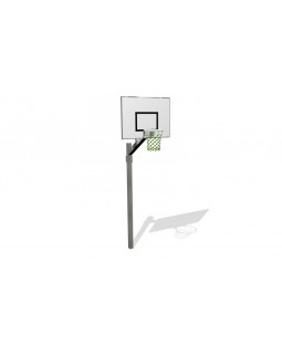 Basketballstativ Hvid plade