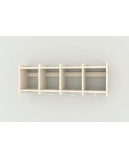 Væggarderobe - 4 sektioner