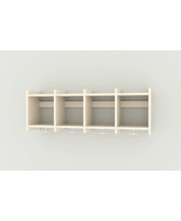 Væggarderobe - 5 sektioner