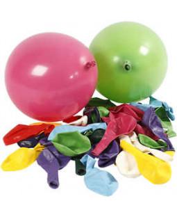 Balloner, dia. 23 cm, 100 ass., ass. farver runde, ass. farver