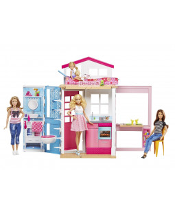 barbie 2 etagers hus