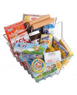 Polly indkøbskurv med produkter