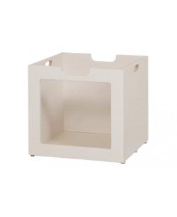 Opbevaringskasse m. glas til kurvereol