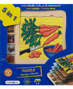 Lag på lag gulerod puslespil