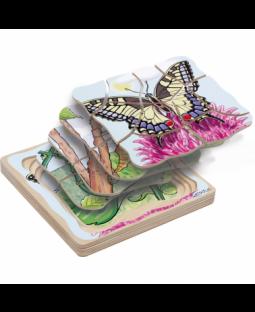 Lag på Lag puslespil sommerfugl