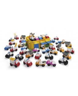 FunCars Classic sæt m/ garage og 39 biler