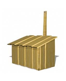 Opbevaringskasse med stålrist