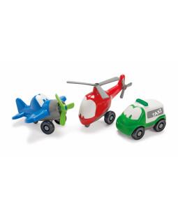 FunCars fly, helikopter, bil - 10 stk. ass.