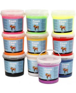 Foam Clay®, 10x560 g, ass. farver