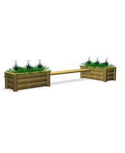 Plantekasser med bænk