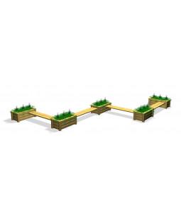 Plantekasser med bænke