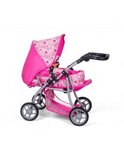 Dukkevogn med lift, pink
