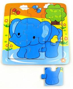 Puslespil, elefant