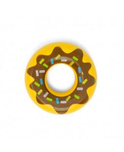 3 Donuts med brun glasur