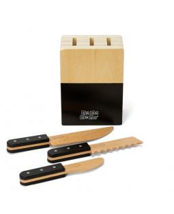 Knivblok med 3 knive