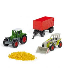 Siku sæt med landbrugskøretøjer i metal