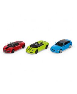 Siku Sportsbiler i metal 3 stk - 8 cm
