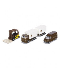 Siku UPS logistikbiler - 8 cm