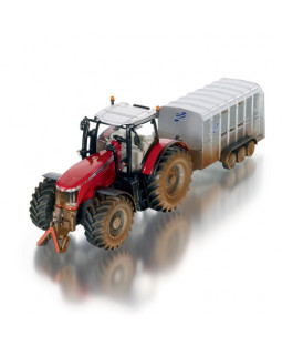 Siku Traktor med trailer i metal 1:32