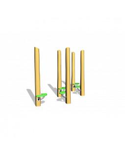 Robinia stolper med HDPE plader