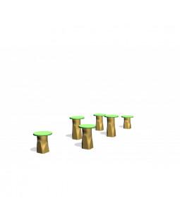 Robinia hoppestolper med HDPE plader Ø25