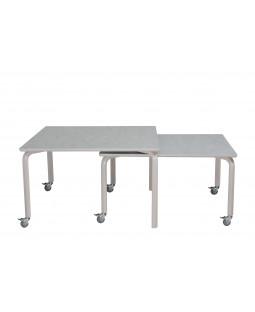 TILBUD - 2 stk. Indskudsbordsæt - 120 x 120 + 120 x 100 cm
