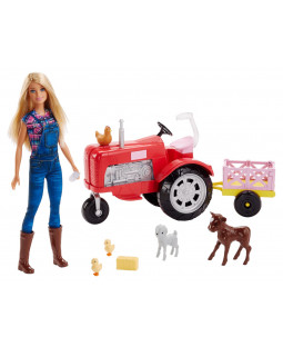 Barbie traktor og farmer