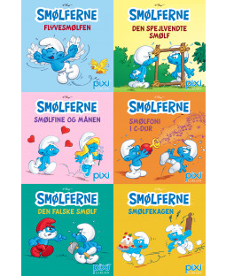 Pixi-Serie Smølferne, 6 bøger
