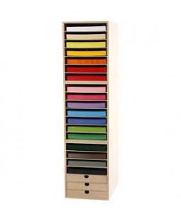 Karton  inkl. reoler, A4 210x297 mm, H: 100 cm, 1 sæt, ass. farver , ass. farver