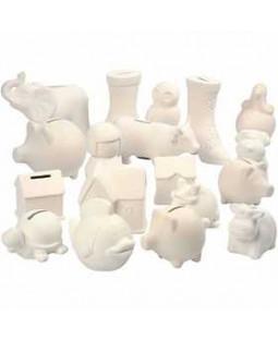 Sparebøsser, 106 stk., hvid