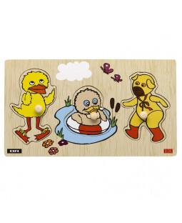 Bamse og kylling, knoppuslespil