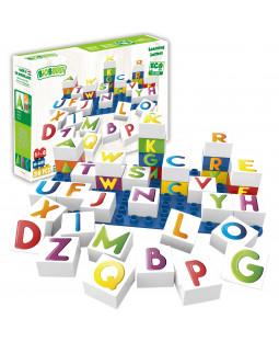 Indlæringsklodser med bogstaver