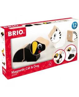 Brio magnetisk gravhund og kat