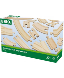 BRIO togskinnesæt, 16 dele
