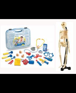 PAKKE: 2 doktorsæt + 1 skelet