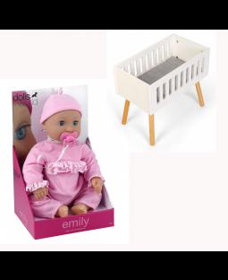 PAKKE: 4 Dukke Emily + 1 dukkeseng