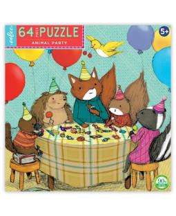 Puslespil 64 brk - Dyrefødselsdag