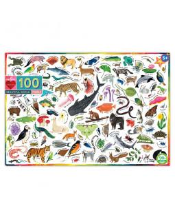 Puslespil 100 brk - Dyr i verden