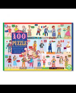 Puslespil 100 brikker - Verdens børn