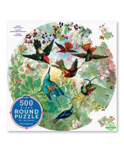 Rundt puslespil 500 brikker - Kolibrier