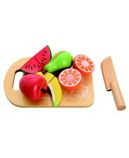 Skærebræt med frugter