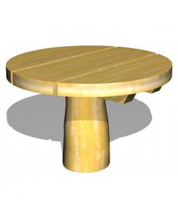 Robinia lege/sandbord Ø60 cm