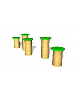 Robinia hoppestolper, grøn