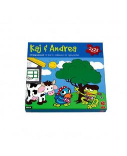 Kaj og Andrea puslespil 2x25 brikker