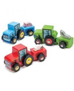 Traktor med dyr ass. 9 stk.