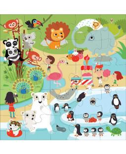 Jumbo puslespil 25 brk - I zoo