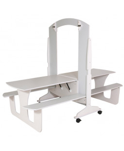 Dobbelt klapbord på hjul