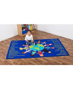 Velkommen tæppe, Verdens børn, Blå