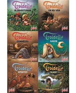 Pixi-Serie Troldeliv, 6 bøger