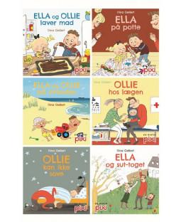 Pixi-Serie Ella og Ollie, 6 bøger